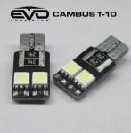 LED Лампа светодиодная EVO - W5W/T10 (Canbus) с обманкой 4 светодиода - Синий/2шт комплект