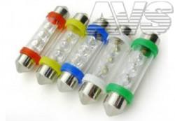 SV001 T11 (SV8,5) 3 LED 36мм, блистер 2 шт желтый