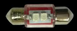 SV026 T11 (SV8,5/8) 2x3528 SMD 31мм, блистер 2 шт красный