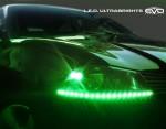 LED Ультраяркая лента EVO - 10cm (кнопка Try-me) - Зеленый (2 шт)