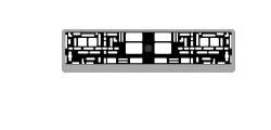 Рамка под номерной знак карбон (светлый)AVS RN-05