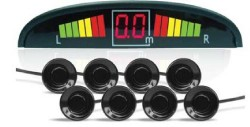 Парктроник PS-128U (8 датчиков+коннекторы, цветной светодиодный дисплей с цифровым табло)