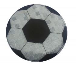 Значок световозвращающий Футбольный мяч серебро