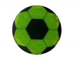 Значок световозвращающий Футбольный мяч лимон