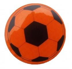 Значок световозвращающий Футбольный мяч оранжевый
