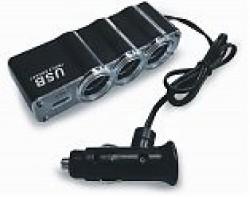 Разветвитель прикуривателя 12/24 (на 3 выхода+USB) CS314U