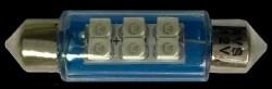 SV009B T11 (SV8,5) 6x3528 SMD 39мм, блистер 2 шт синий