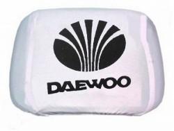 Чехлы на подголовник белые DAEWOO (2шт)