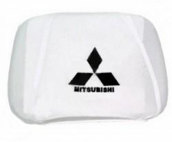 Чехлы на подголовник белые MITSUBISHI (2шт)