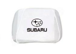 Чехлы на подголовник белые SUBARU (2шт)