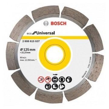 диск алмазный 125*22,2мм сегмент eco universal bosch 2608615028 алмазный диск bosch 300х25 4мм eco for universal 2 608 615 033