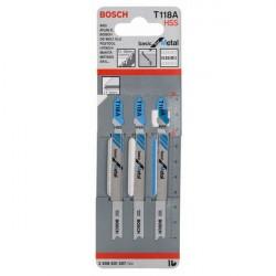 Набор пилок для лобзика 3шт по металлу T118A 92мм Bosch 2608631507