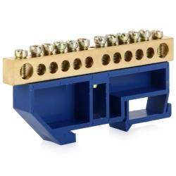 Шина на DIN-рейку в изоляторе 6-9мм 12 групп YNN10-69-12D-K07