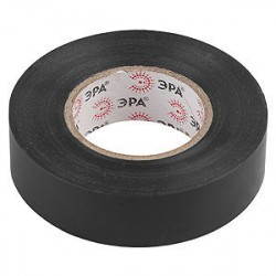 Изолента ПВХ 19мм*20м*0,15мм черная, Эра
