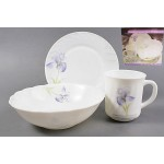 Набор для завтрака 3 пр. АМАРАНТ (тарелка 17 см, салатник 20 см, чашка 250 мл) W3B5/140810