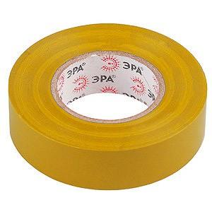 изолента пвх 15мм*20м*0,15мм желтая, эра