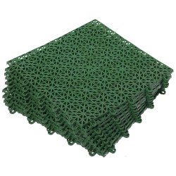 Покрытие пластиковое, универсальное VORTEX 1м.кв. (9 плиток) цвет зеленый