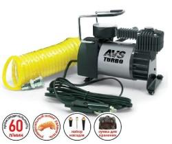 Компрессор автомобильный (12В, 60л/мин, 10атм) Turbo AVS KS600