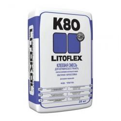 Клей плиточный LitoFlex K80 25кг для керамогранита