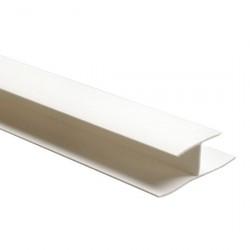 Профиль ПВХ соединительный 3мм 2,44м белый /А/