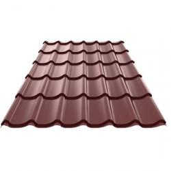 Металлочерепица 1180*2250мм Полиэстер RAL 8017 шоколад /Эконом/