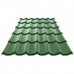 Металлочерепица 1180*2250мм Полиэстер RAL 6005 зеленый мох /Эконом/
