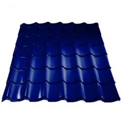 Металлочерепица 1180*2250мм Полиэстер RAL 5005 сигнально-синий /Эконом/