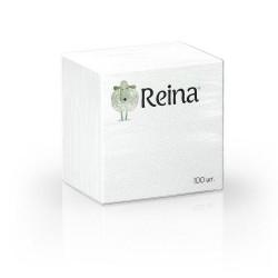 Салфетки бумажные Reina 1сл. 100 шт белые
