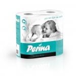 Бумага туалетная PERINA Perfect White 3слоя 4 шт