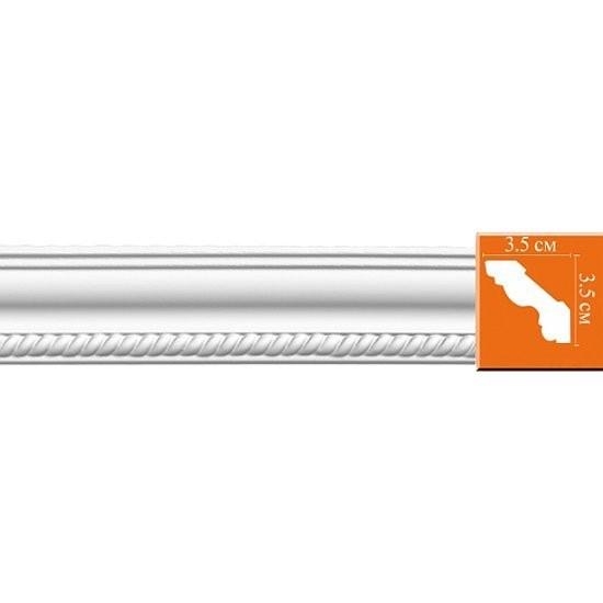 плинтус decomaster-2 35*35*2400мм 95637/64 орнамент из полиуретана decomaster 66141r 145х80х16 мм