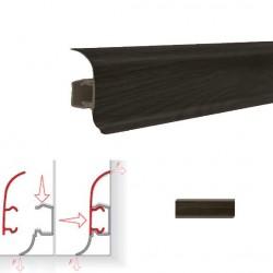 Плинтус пластиковый (с резинкой) NGF56 Венге 2,5м NGF024