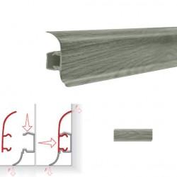 Плинтус пластиковый NGF56 Шато Серый 2,5м NGF099