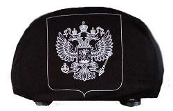 Чехлы на подголовник чёрные ГЕРБ (2шт)