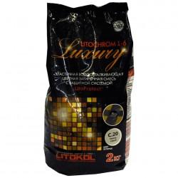 Затирка LITOKOL LITOCHROM 1-6 Luxury, цвет светло-серый, 2 кг