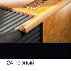 Раскладка наружная 8мм черная 2,5м 018024 SALAG