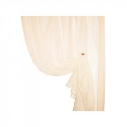 Тюль микровуаль однотонная 5011/25  4,0*2,5м , на тесьме, бежевый
