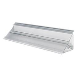 Плинтус 3050мм серый прозрачный без отделки СОЮЗ