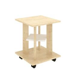 Стол кофейный ТАК-31 (Клен танзай+Белый) 0,4*0,4*0,5
