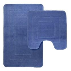 Набор ковровиков 45х70/45х45 Como голубой полипропилен SWMS-1030-SKY