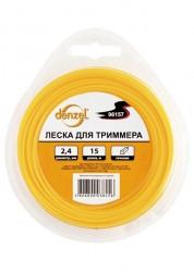 Леска для триммера звезда, 2.4мм х 15м DENZEL Россия