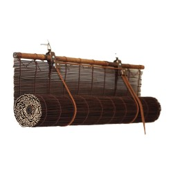 Штора рулонная бамбук 7002 140*160 Осака венге