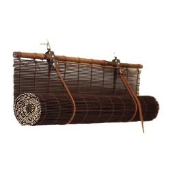 Штора рулонная бамбук 7002 160*160 Осака венге