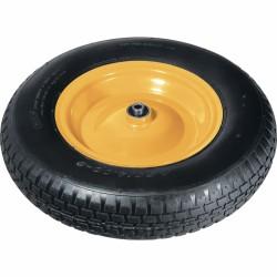 Колесо пневматическое 4.80/4.00-8 D 380 мм., подшипник, внутренний диаметр 12 мм., длина оси 90 мм.