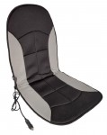Накидка на сиденье  AM007-019 с подогревом (черн/серая, ткань)