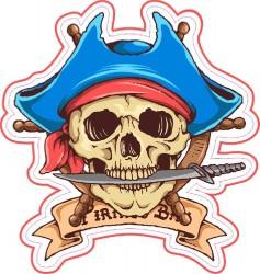 Наклейка Арт.1137 м тату череп малая