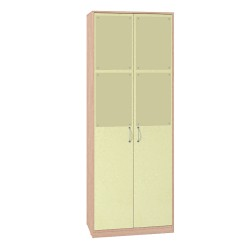 Шкаф для одежды 2 ,6 /фасад/ Калейдоскоп молодежная 01 Лимон U1560