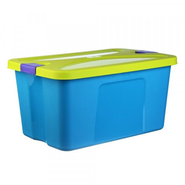 ящик для игрушек секрет 45л бирюзовый ящики для игрушек idea м пластика ящик для игрушек секрет