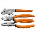 Набор губцевого инструмента из 3-х предметов №2 (плоскогубцы, бокорезы, клещи перестав.) SPARTA 1354