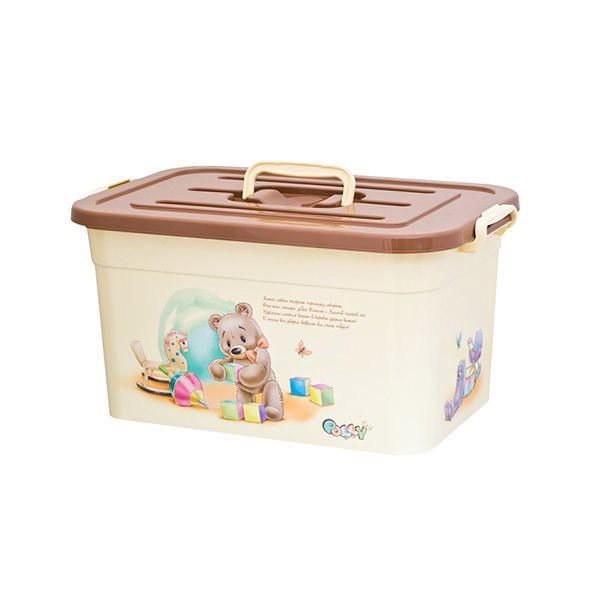 контейнер для детских вещей polly 15л ящики для игрушек полимербыт ящик для игрушек polly 15 л