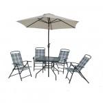 Набор мебели Венеция стол 0,9*0,9/кресло 4шт/зонт d2,0 c мех. Наклона